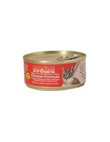 EVOLVE HUMEDOS CHICKEN CAT FOOD (Para todas las edades - Lata tipo pate - Pollo )