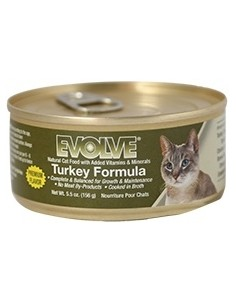 EVOLVE HUMEDOS TURKEY CAT FOOD (Para todas las edades - Lata tipo pate - Pavo )