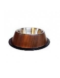 Pet Bowl - Comedero Antideslizante en Madera - Acero